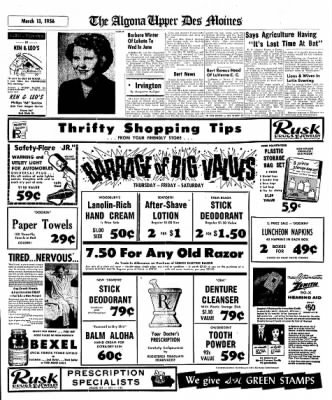 The Algona Upper Des Moines from Algona, Iowa on March 13, 1956 · Page 48
