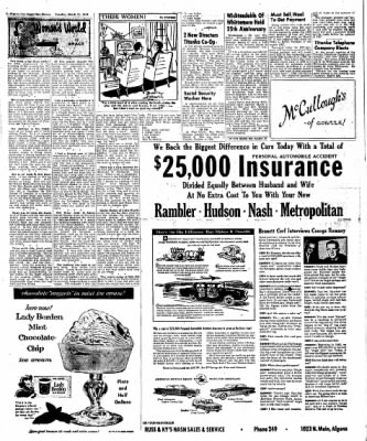 The Algona Upper Des Moines from Algona, Iowa on March 13, 1956 · Page 64
