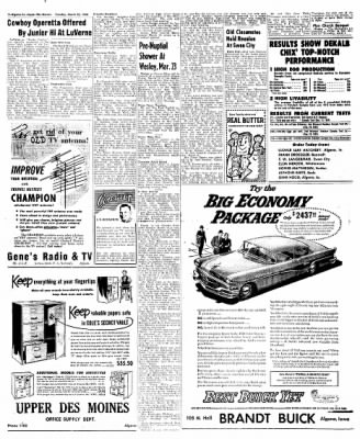 The Algona Upper Des Moines from Algona, Iowa on March 20, 1956 · Page 18