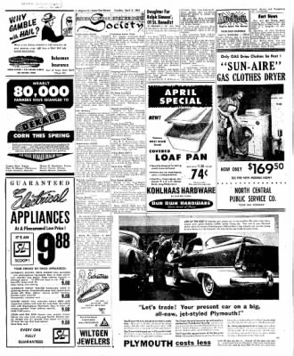 The Algona Upper Des Moines from Algona, Iowa on April 3, 1956 · Page 20