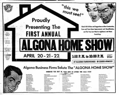 The Algona Upper Des Moines from Algona, Iowa on April 10, 1956 · Page 12