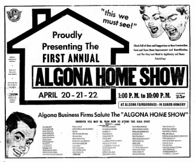 The Algona Upper Des Moines from Algona, Iowa on April 10, 1956 · Page 44