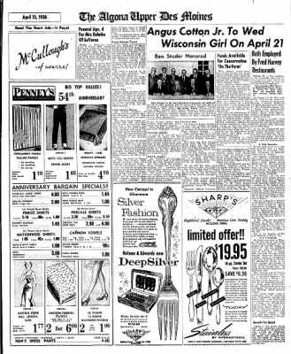 The Algona Upper Des Moines from Algona, Iowa on April 10, 1956 · Page 49