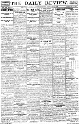 The Daily Review from Decatur, Illinois on September 2, 1899 · Page 1