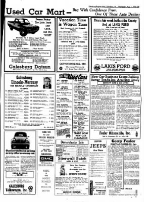 Galesburg Register-Mail from Galesburg, Illinois on August 1, 1973 · Page 39