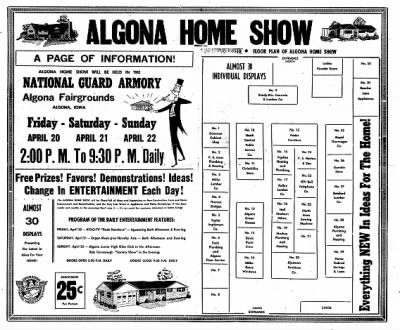 The Algona Upper Des Moines from Algona, Iowa on April 17, 1956 · Page 48