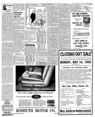 The Algona Upper Des Moines from Algona, Iowa on May 8, 1956 · Page 11