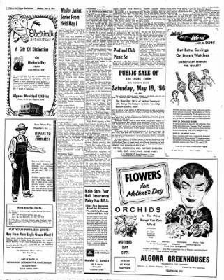 The Algona Upper Des Moines from Algona, Iowa on May 8, 1956 · Page 19