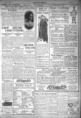 Oakland Tribune from Oakland, California on August 23, 1912 · Page 5