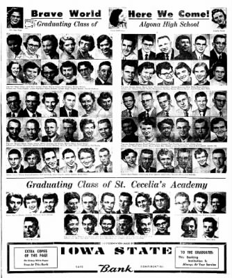 The Algona Upper Des Moines from Algona, Iowa on May 15, 1956 · Page 50
