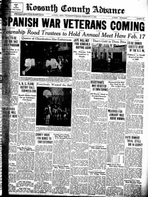 Kossuth County Advance from Algona, Iowa on February 12, 1942 · Page 1