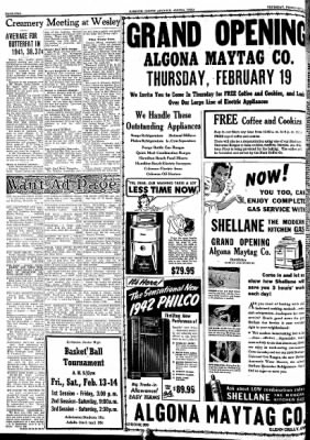 Kossuth County Advance from Algona, Iowa on February 12, 1942 · Page 2