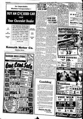 Kossuth County Advance from Algona, Iowa on March 26, 1942 · Page 4