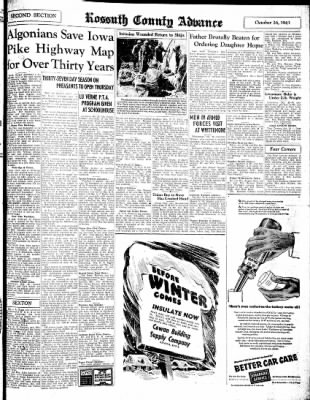 Kossuth County Advance from Algona, Iowa on October 26, 1943 · Page 7