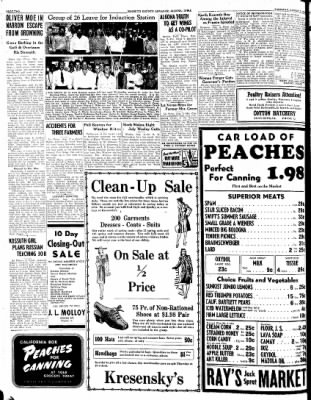 Kossuth County Advance from Algona, Iowa on August 3, 1944 · Page 1