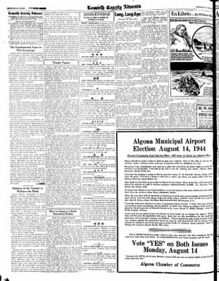 Kossuth County Advance from Algona, Iowa on August 3, 1944 · Page 4