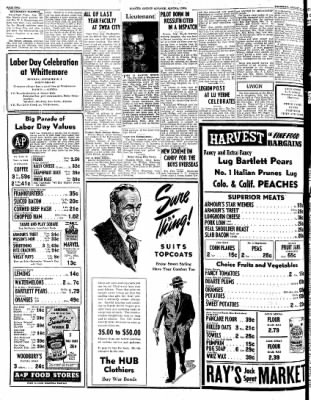 Kossuth County Advance from Algona, Iowa on August 31, 1944 · Page 1