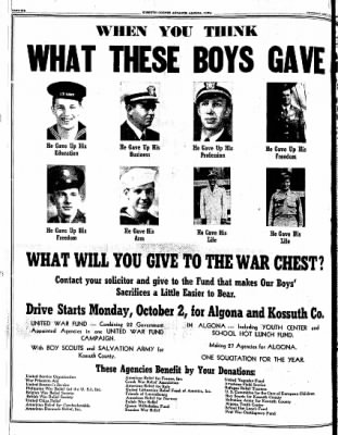 Kossuth County Advance from Algona, Iowa on September 28, 1944 · Page 6
