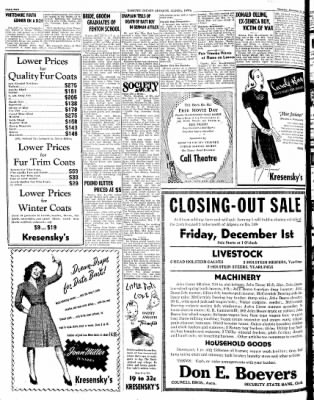 Kossuth County Advance from Algona, Iowa on November 23, 1944 · Page 2