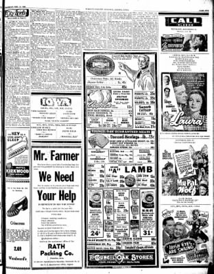 Kossuth County Advance from Algona, Iowa on December 14, 1944 · Page 3