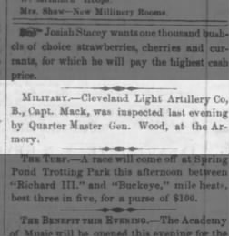 Cleveland Daily Leader from Cleveland, Ohio on June 21, 1860