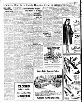 Kossuth County Advance from Algona, Iowa on July 17, 1945 · Page 1
