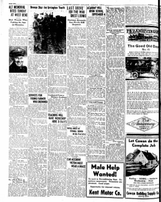 Kossuth County Advance from Algona, Iowa on August 28, 1945 · Page 1