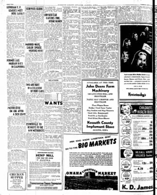 Kossuth County Advance from Algona, Iowa on September 11, 1945 · Page 1