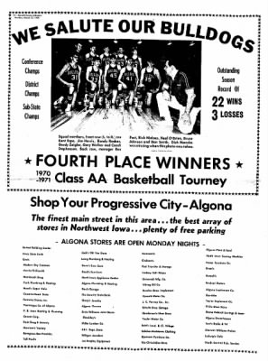 Kossuth County Advance from Algona, Iowa on March 22, 1971 · Page 12