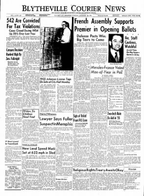 The Courier News from Blytheville, Arkansas on December 28, 1954 · Page 1