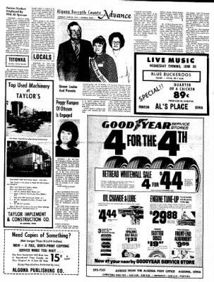 Kossuth County Advance from Algona, Iowa on June 28, 1971 · Page 11