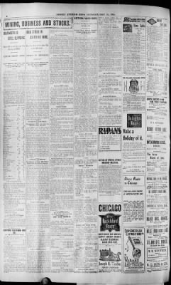Deseret Evening News From Salt Lake City Utah On May 23 1901 Page 6