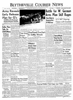 The Courier News from Blytheville, Arkansas on December 31, 1954 · Page 1
