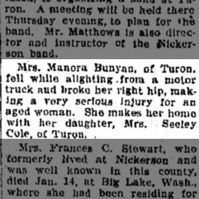 Mrs Manora Bunyan Fell -