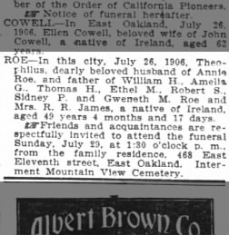 Oakland Tribune from Oakland, California on July 27, 1906 · Page 16