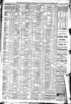 The Algona Upper Des Moines from Algona, Iowa on November 5, 1890 · Page 8