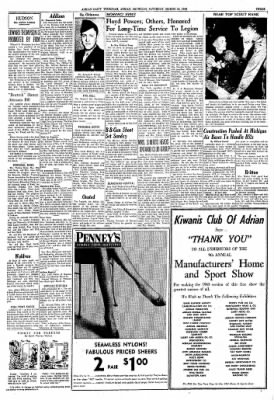 The Daily Telegram from Adrian, Michigan on March 26, 1960 · Page 3