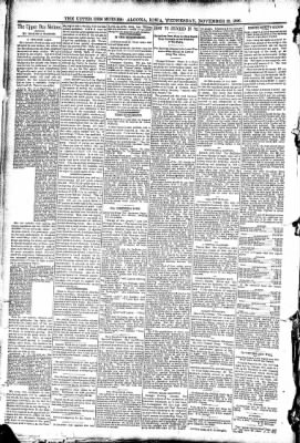 The Algona Upper Des Moines from Algona, Iowa on November 19, 1890 · Page 4