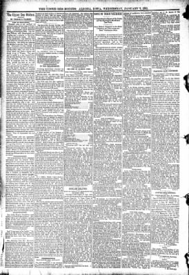 The Algona Upper Des Moines from Algona, Iowa on January 7, 1891 · Page 4