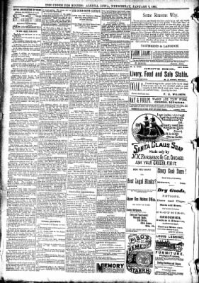 The Algona Upper Des Moines from Algona, Iowa on January 7, 1891 · Page 8