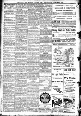 The Algona Upper Des Moines from Algona, Iowa on January 14, 1891 · Page 10