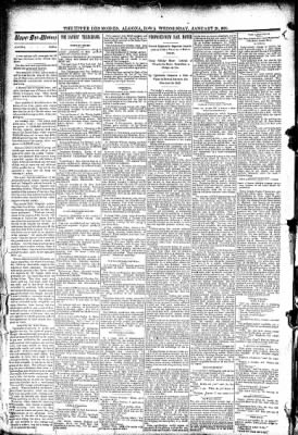 The Algona Upper Des Moines from Algona, Iowa on January 28, 1891 · Page 2