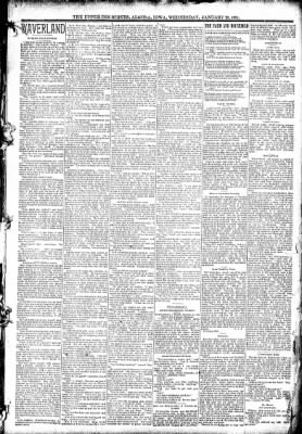 The Algona Upper Des Moines from Algona, Iowa on January 28, 1891 · Page 3