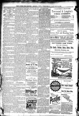 The Algona Upper Des Moines from Algona, Iowa on January 28, 1891 · Page 8