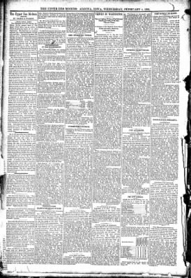 The Algona Upper Des Moines from Algona, Iowa on February 4, 1891 · Page 4