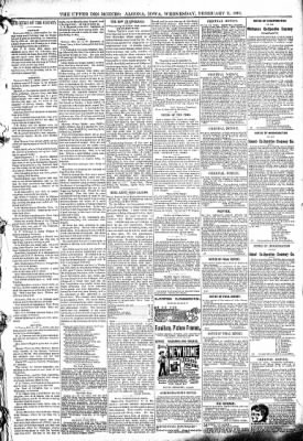 The Algona Upper Des Moines from Algona, Iowa on February 11, 1891 · Page 5