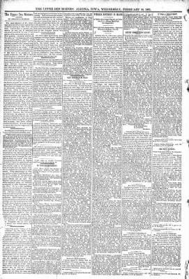 The Algona Upper Des Moines from Algona, Iowa on February 18, 1891 · Page 4