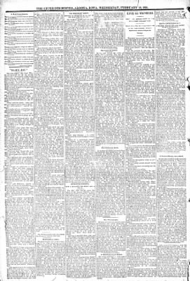 The Algona Upper Des Moines from Algona, Iowa on February 18, 1891 · Page 6