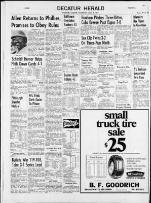 The Decatur Herald From Decatur Illinois On May 8 1975