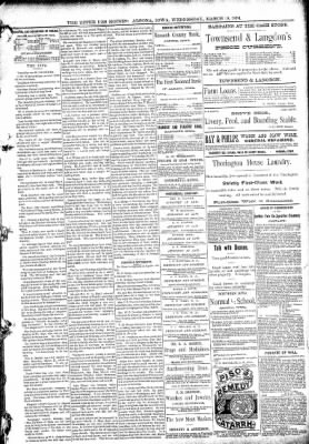 The Algona Upper Des Moines from Algona, Iowa on March 18, 1891 · Page 5